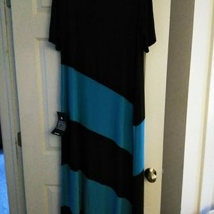 Black and Blue Maxi Dress by Avenue